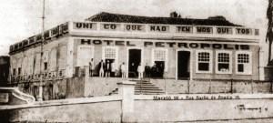 Hotel Petrópolis, que sucedeu ao Hotel Universal. Local da construção do Bella Vista