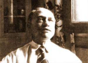 Jorge de Lima no consultório do Edifício Amarelinho, na Cinelândia