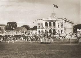 Em 1906, visita do presidente da República Affonso Penna. Foto de Luiz Lavenère