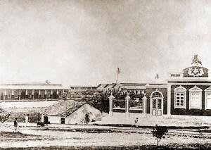 Últimas casas da Rua Nova (Barão de Penedo) na Boca de Maceió no final do século XIX