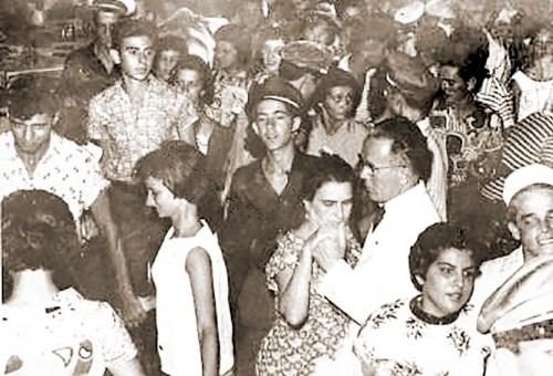 Baile de carnaval nos anos 60 no Iate
