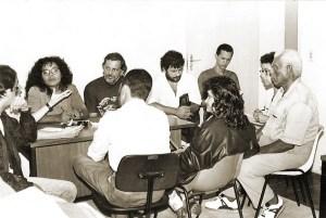 Reunião do Sindicato dos Jornalistas na década de 80