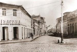 Rua do Comércio em meados do século XIX