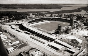 Construção do Trapichão em 1969. Foto acervo Museu do Esporte