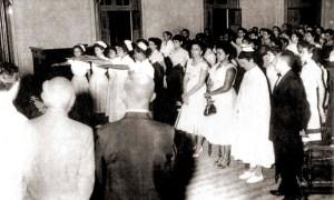 Formatura da segunda turma em 1956