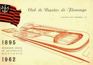 Maquete estádio do Flamengo na Gávea. Projeto do arquiteto João Khair em 1962