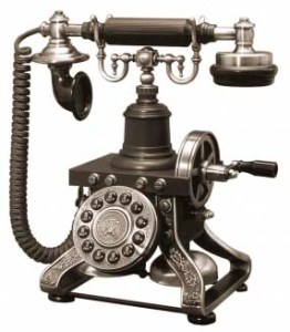 Antigos aparelhos telefônicos