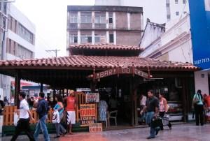 Praça D. Rosa da Fonseca hoje, ocupada pelo Bar do Chopp