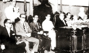 Mesa em solenidade no Instituto Histórico e Geográfico com a presença de Manuel Valente de Lima