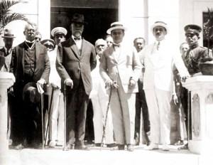 Álvaro Paes, presidente Washigton Luiz, governador Costa Rego e Gustavo Paiva em Rio Largo na década de 20