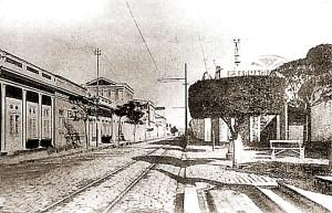 Rua do Livramento, com a Praça D. Rosa da Fonseca, em 1915