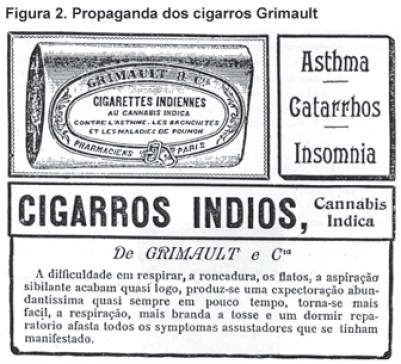 Anúncio de cigarros de maconha Indios