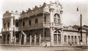 Hotel Lopes nos anos 30 na Praça do Montepio dos Artistas