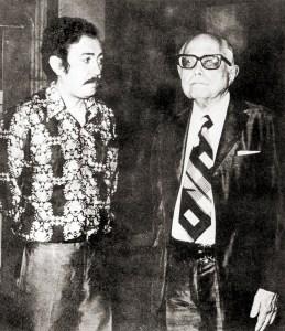 Ivan Barros e Pontes de Miranda. Foto do acervo de Ivan Barros