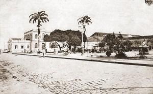 Praça Dois Leões no início do século XX, após 1905