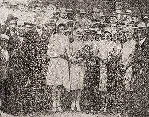 Embarque de Helena Taveiros no porto do Rio de Janeiro. Foto: A Noite, 10 de maio de 1929