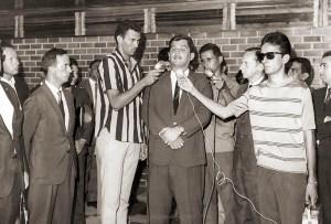 Em 1969, na inauguração da FADA, a atuação dos repórteres Márcio Canuto, Raimundo Nonato e Laerson Silva