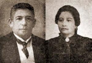 Cel. Antônio Maurício da Rocha e D. Maria José de Melo Rocha, pai e mãe de Virgílio Maurício. Fonte: Revista Genealógica Latina, Vol. 8, 1956