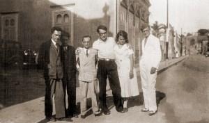 Graciliano Ramos, Aluísio Branco, Théo Brandão, José Auto, Rachel de Queiroz e Waldemar Cavalcante
