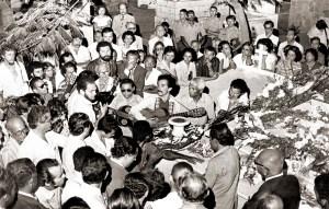 Enterro de Théo Brandão em 1981- Foto de José Feitosa. Acervo Bartolomeu Dresh