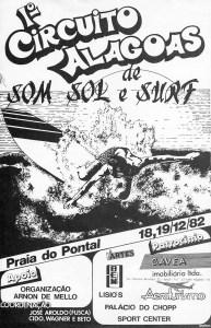 Cartaz do I Circuito Alagoas em 1982