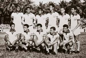 CSA na Taça Brasil de 1966. Em pé: Bibiu, Jurandir, Flávio, Chita, Paulo Nylon e Jernan. Agachados: Ratinho, Tonho Lima, Bosco, Eric e Jaldemir
