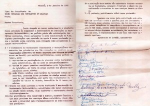 Documento da UEEA contra o fechamento do Restaurante Universitário em 1962