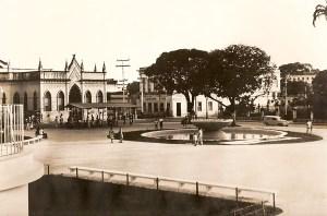 Praça dos Martírios com a residência do deputado Baltazar de Mendonça, palco de um dos tiroteios de 1935