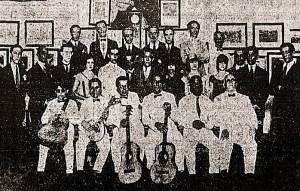 Os Turunas da Mauricéia no estúdio da Rádio Sociedade. Foto do Correio da Manhã de 20.02.1927