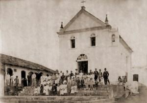 Capela que deu origem ao município em foto de 1919