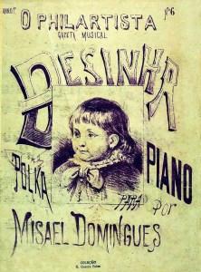"Capa da partitura da polca ""Desinha"", publicada na revista O Philarista"
