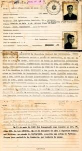 Ficha na DOPS de Mário César Viana