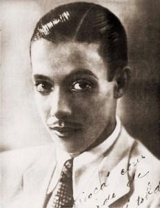 Luiz Jatobá no início da carreira no final dos anos 30