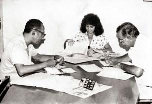 Carivaldo Brandão, Cristina Lemos e Dêvis Melo da comissão julgadora do Prêmio Salgema de Jornalismo