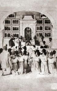 Missa na capela da Faz. Água Limpa - RJ - Foto de Manuel Maria de Paula Ramos em 1870