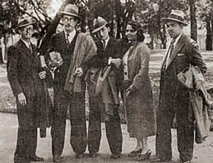 Valdemar Cavalcanti, José Auto, Jorge Amado, Rachel de Queiroz e Alberto Passos Guimarães 1933