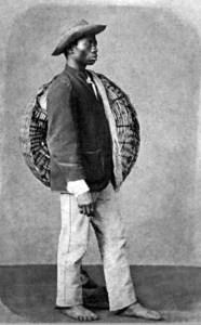 Negro fotografado por Christiano Júnior em 1865