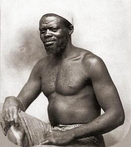 Escravo da Mina Aouni em foto de Augusto Sthal, 1865