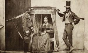 Senhora na liteira com dois escravos, Bahia, 1860 (Acervo Instituto Moreira Salles)