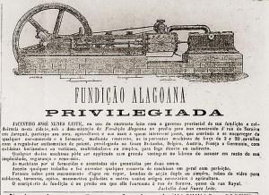 Anúncio da Fundição alagoana no jornal Diário da Manhan de 14 de dezembro de 1885