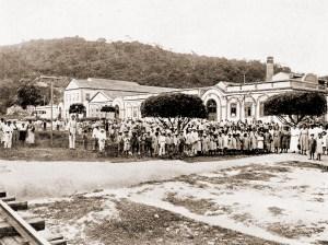 Operários da União Mercantil em Fernão Velho no ano de 1922