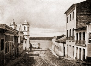 Rua da Corrente em Penedo no ano de 1922