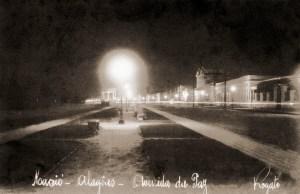 Avenida da Paz em Maceió capturada em foto noturna de Rogato