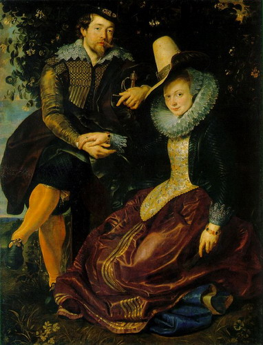 Rubens con su esposa Isabella Brant