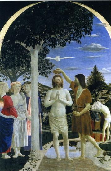 el bautismo de cristo de piero della francesaca