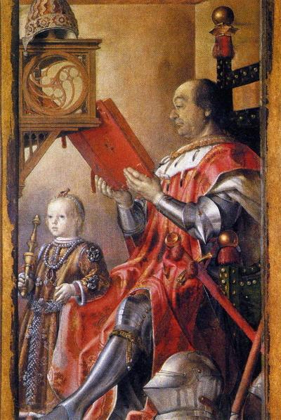 El duque de Montefeltro y su hijo