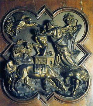 Sacrificio de Isaac de Brunelleschi
