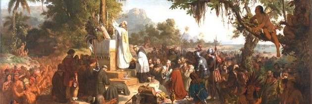 Resultado de imagem para primeira missa no brasil