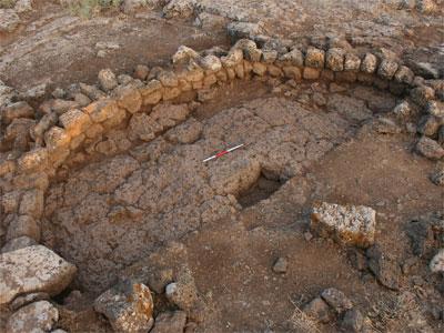 Yacimiento de una cabaña natufiense al sur de Siria