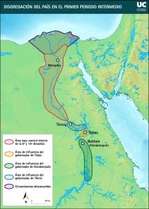 Mapa que muestra la disgregación política del Primer Periodo Intermedio